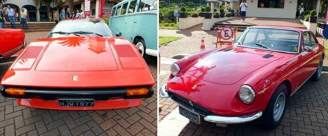 Uma bela dupla de Ferrais. Vermelhas, como toda Ferrari deve ser...