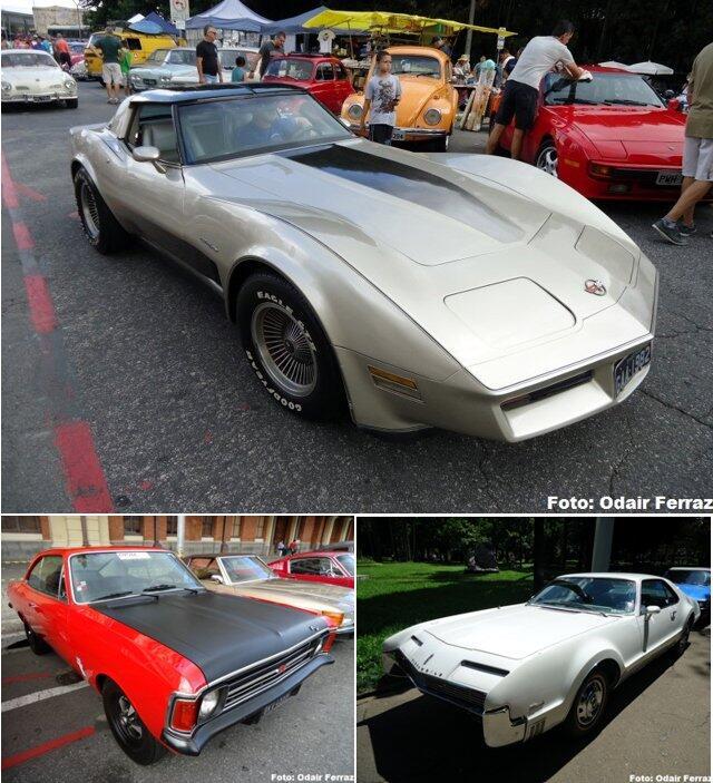 Na foto principal, Corvette Collectors Edition 1982. Abaixo, Opala SS4 1973 e Oldsmobile