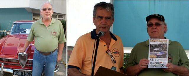 À esquerda Luiz Carlos e seu JK. À direita, recebendo a homenagem de Gilberto Nassif