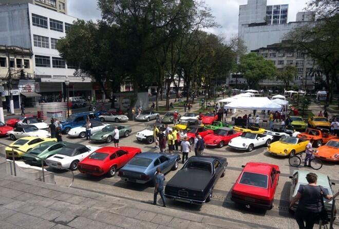 Momentos na Praça Mauá e com os expositores