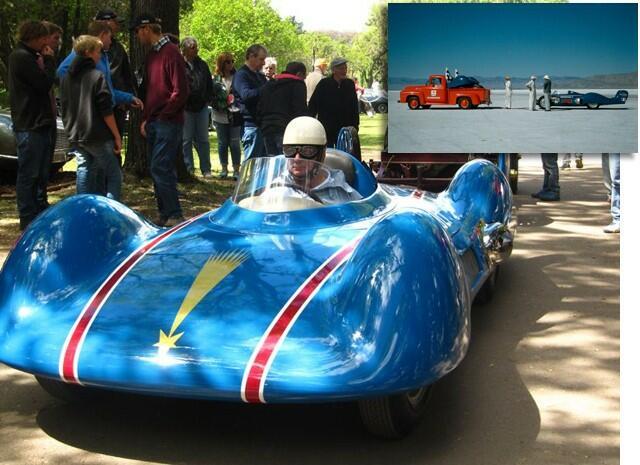 O Renault recordista. No detalhe, Bonneville 1956