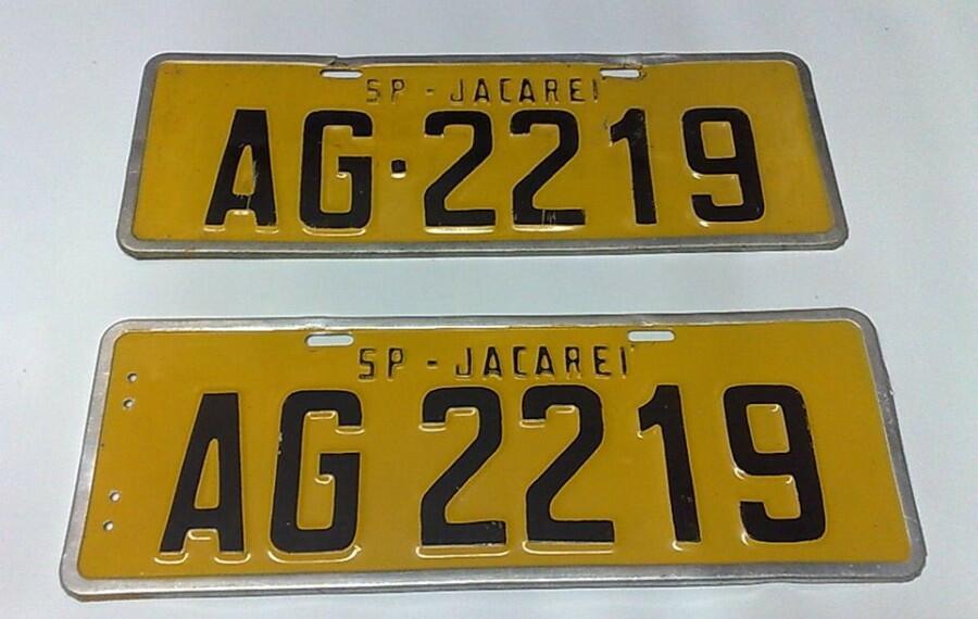 Veículos com placa Amarela