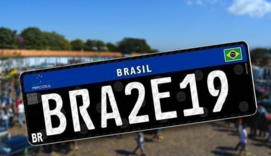 Placa Preta Mercosul
