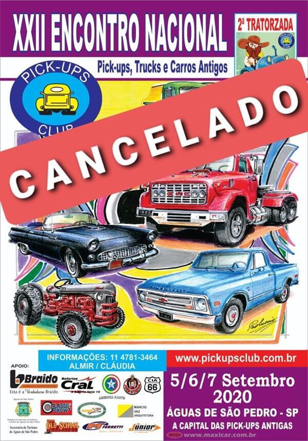 CANCELADO - XXII Encontro Nacional de Pic-ups, Trucks e Carros Antigos em Águas de São Pedro