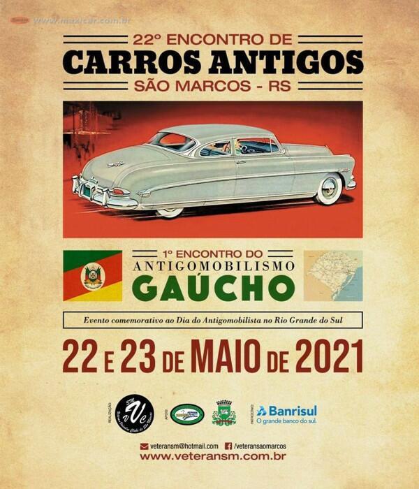 22º Encontro de Carros Antigos em São Marcos, RS