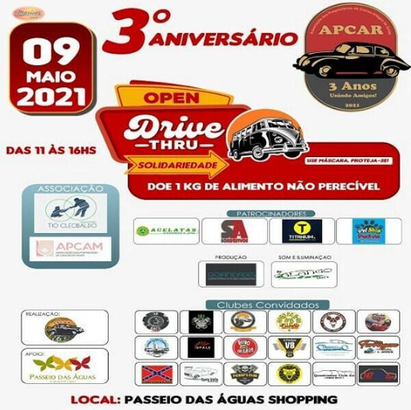 3º Aniversário APCAR - Drive Thru Solidário - Goiânia, GO