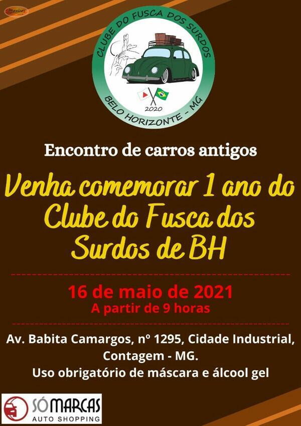 Encontro de Carros Antigos do Clube do Fusca dos Surdos de Belo Horizonte
