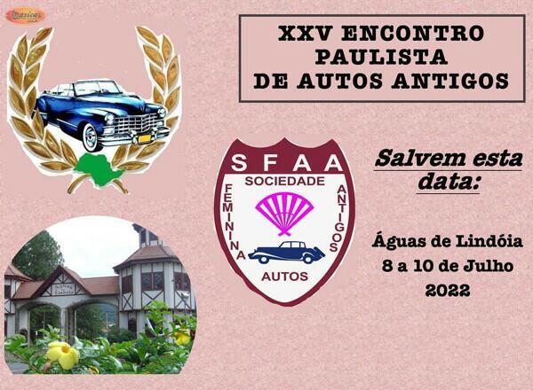 XXV Encontro Paulista de Autos Antigos - Águas de Lindói