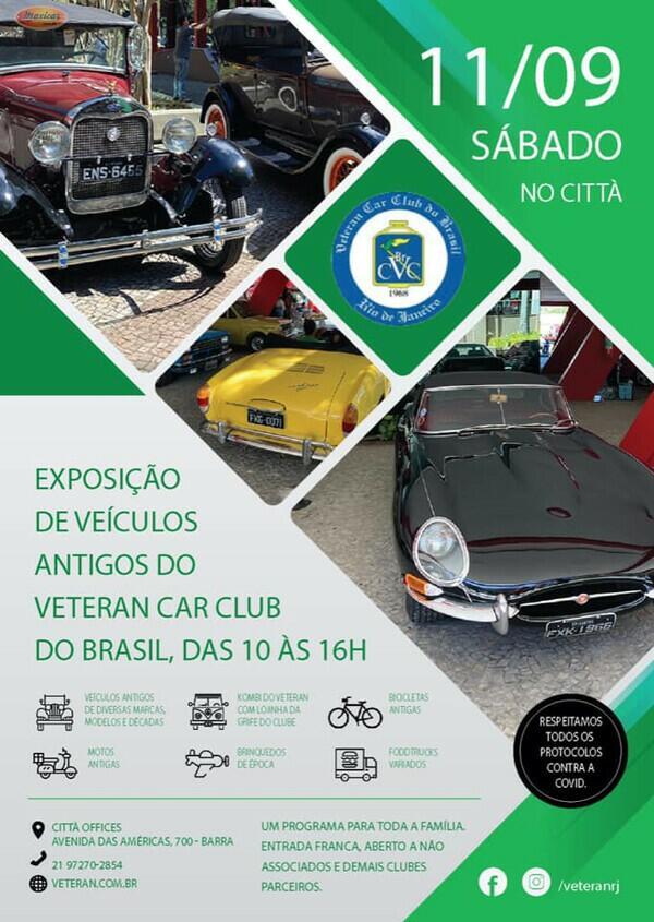 Exposição de Veículos Antigos do Veteran Car Club do Brasil
